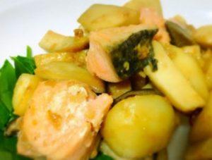 里芋と鮭ときのこの味噌絡め♡ダイエット♩