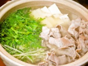 超簡単!豚と水菜と豆腐の鍋