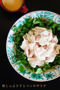 豚しゃぶとクレソンのサラダ