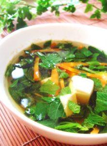 栄養たっぷりモロヘイヤの和風スープ