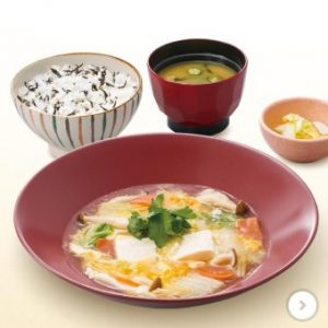 手造り豆腐と野菜のトロトロ煮定食