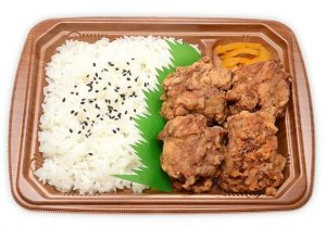 若鶏の唐揚弁当(にんにく醤油仕立て・セブンイレブン)