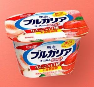 明治ブルガリアヨーグルト脂肪0 りんご&白桃+食物繊維