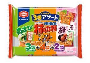 亀田の柿の種 3種アソート 9袋詰