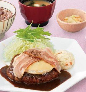 定食屋さんのデミ・チーズハンバーグ定食(大戸屋)