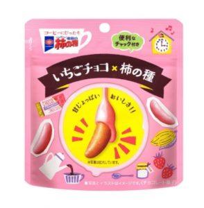 亀田の柿の種 いちごチョコ