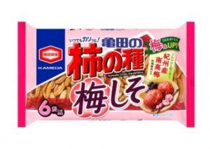 亀田の柿の種 梅しそ 6袋詰
