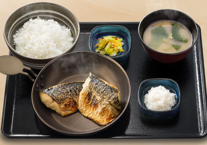 炙り塩鯖定食(吉野家)