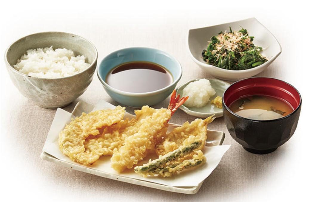 天ぷら定食(てんや)